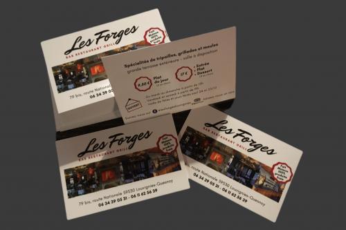 Gwen Communication - création de carte de visite - Restaurant Les Forges - Louvignies-Quesnoy (59)