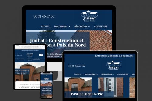 Gwen Communication - création du site internet de Jimbat - 59